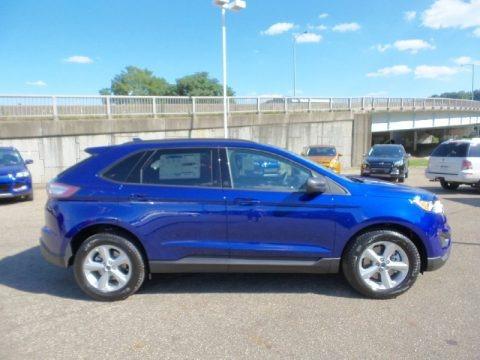 Deep Impact Blue Metallic 2015 Ford Edge SE AWD