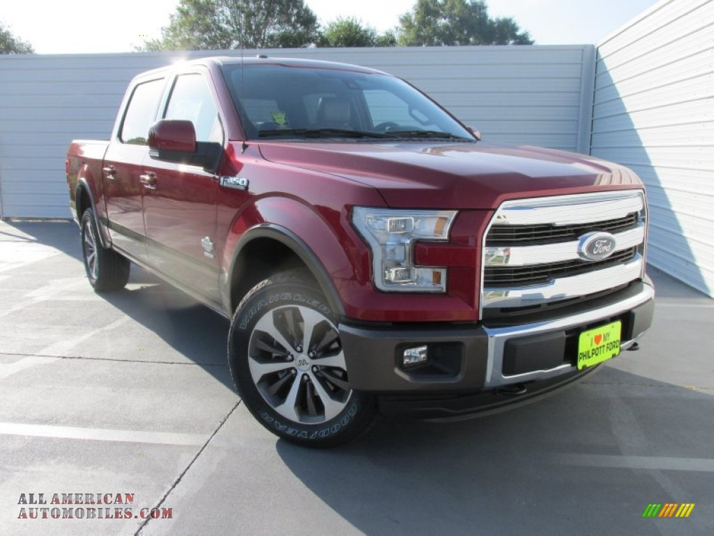 2015 ford f150 king ranch supercrew 4x4 in ruby red metallic b97670 all american automobiles. Black Bedroom Furniture Sets. Home Design Ideas