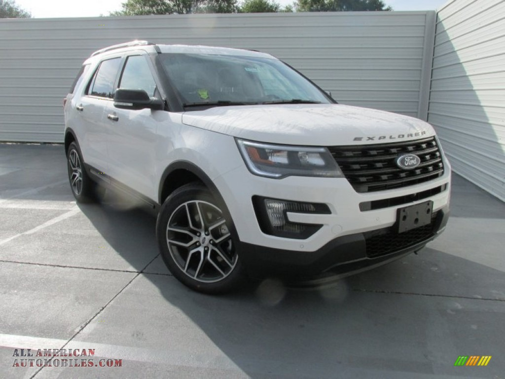 2016 ford explorer sport 4wd in white platinum metallic tri coat a43549 all american. Black Bedroom Furniture Sets. Home Design Ideas