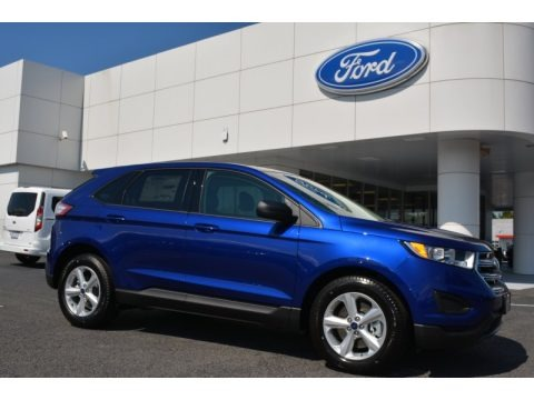 Deep Impact Blue Metallic 2015 Ford Edge SE AWD