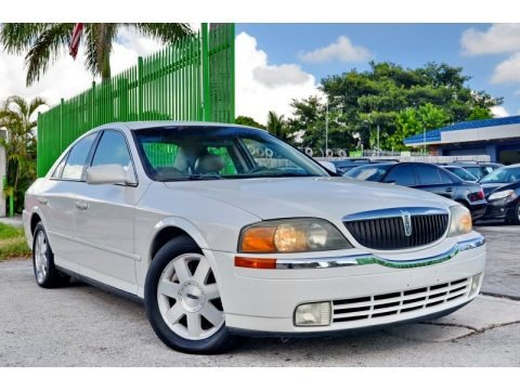 White Pearlescent Tricoat 2002 Lincoln LS V6
