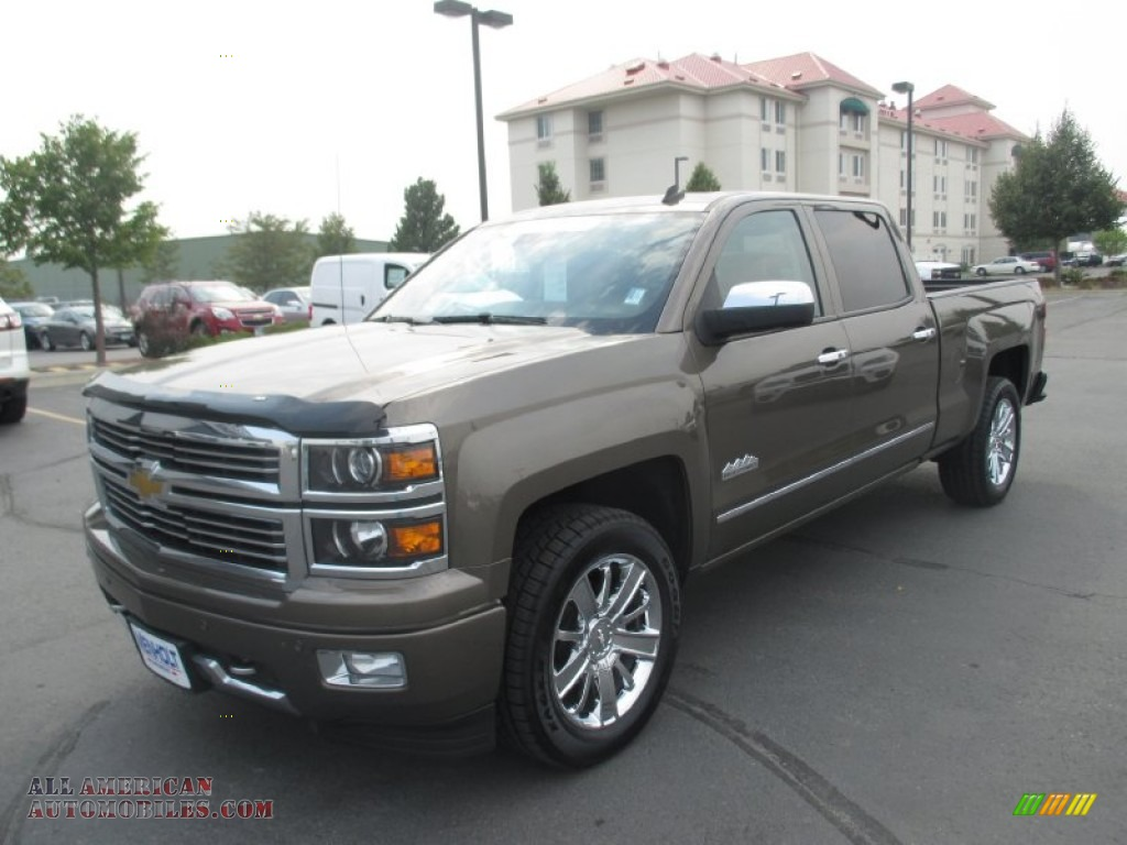 2014 chevrolet silverado 1500 high country crew cab 4x4 in brownstone metallic photo 2 306706. Black Bedroom Furniture Sets. Home Design Ideas