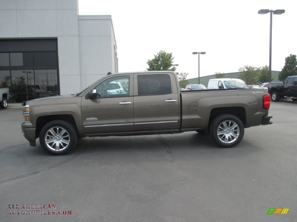 2014 chevrolet silverado 1500 high country crew cab 4x4 in brownstone metallic photo 3 306706. Black Bedroom Furniture Sets. Home Design Ideas