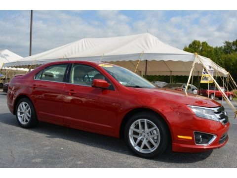 Sangria Red Metallic 2010 Ford Fusion SEL