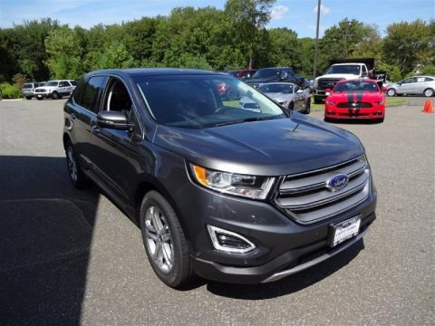 Magnetic Metallic 2015 Ford Edge Titanium AWD