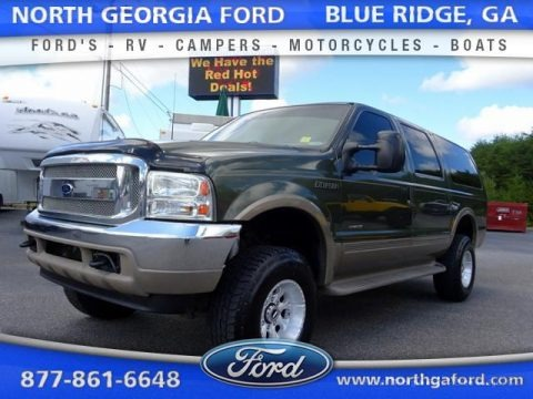 Chestnut Metallic 2001 Ford Excursion Limited 4x4
