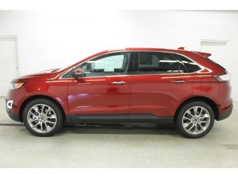 Ruby Red Metallic 2015 Ford Edge Titanium AWD