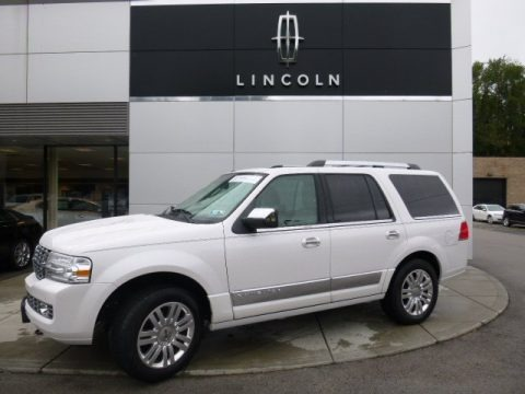 White Platinum Metallic Tri-Coat 2012 Lincoln Navigator 4x4