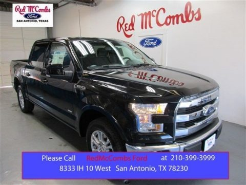 Tuxedo Black Metallic 2015 Ford F150 Lariat SuperCrew