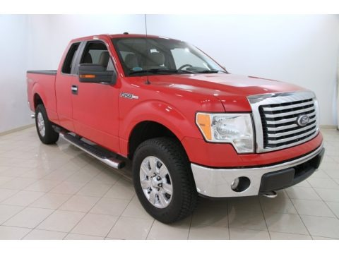Vermillion Red 2010 Ford F150 XLT SuperCab 4x4