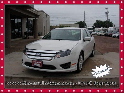White Platinum Tri-Coat 2012 Ford Fusion SEL