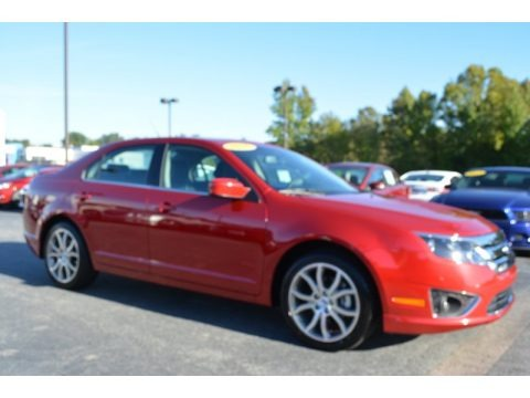 Red Candy Metallic 2012 Ford Fusion SE