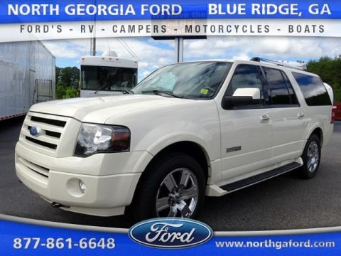 White Sand Tri Coat Metallic 2007 Ford Expedition EL Limited 4x4