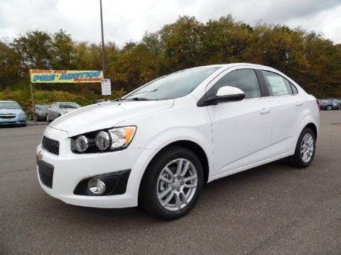 Summit White 2016 Chevrolet Sonic LT Sedan