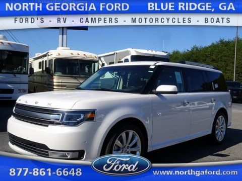 White Platinum Tri-Coat Metallic 2015 Ford Flex Limited EcoBoost AWD
