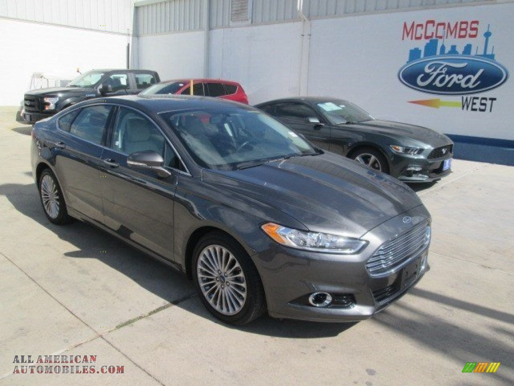 2015 ford fusion titanium in magnetic metallic 152927 all american automobiles buy. Black Bedroom Furniture Sets. Home Design Ideas