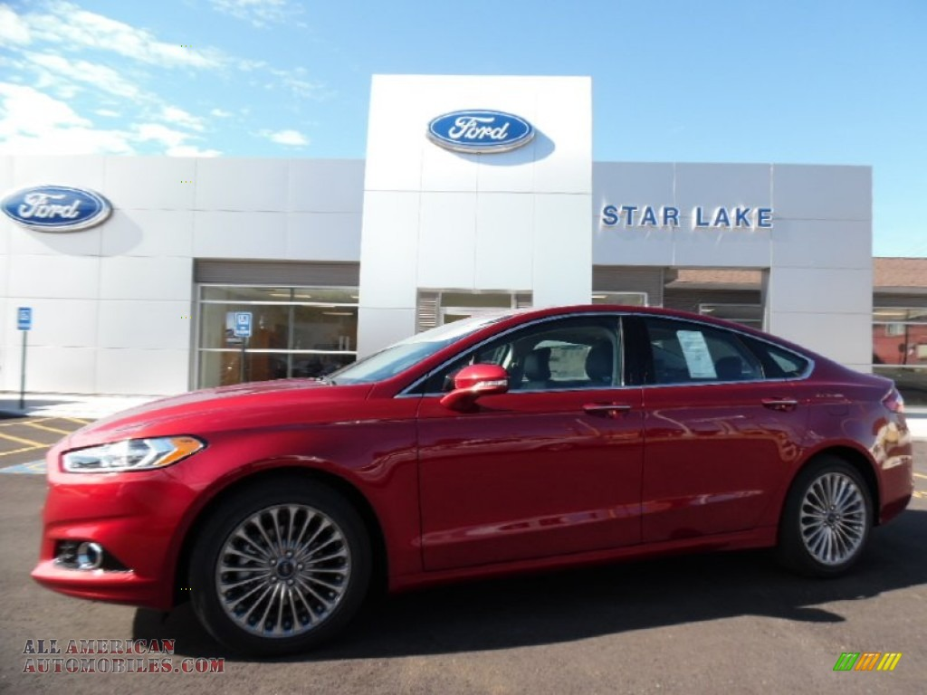 2016 ford fusion titanium in ruby red metallic 231955 all american automobiles buy. Black Bedroom Furniture Sets. Home Design Ideas