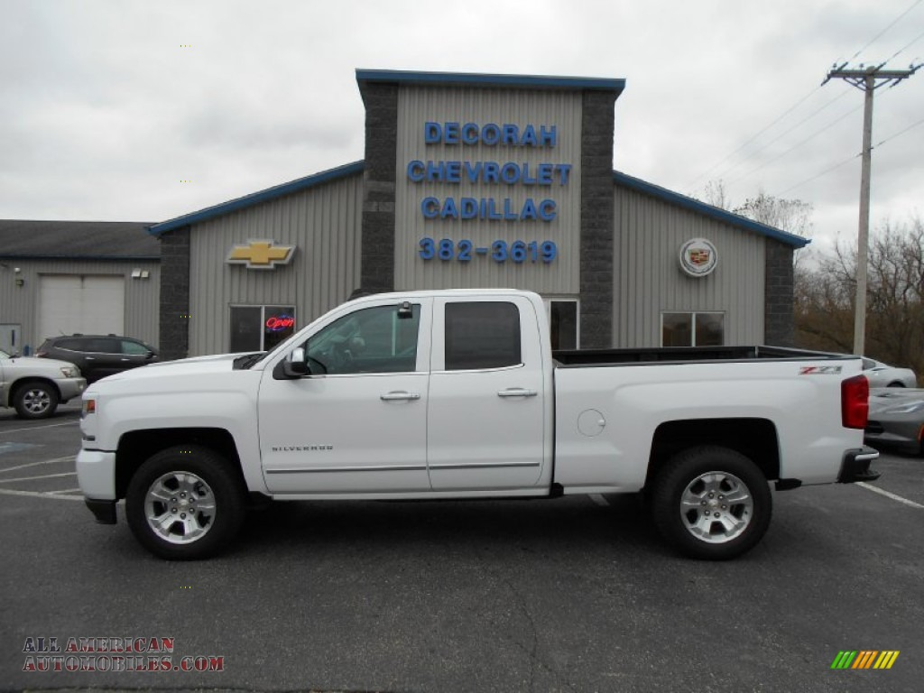 2016 Chevrolet Silverado 1500 Double Cab >> 2016 Chevrolet Silverado 1500 LTZ Z71 Double Cab 4x4 in Summit White - 102972 | All American ...