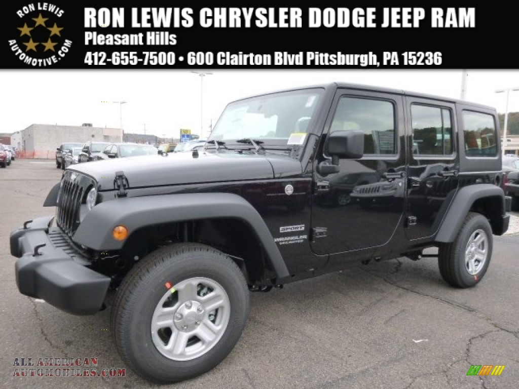 2016 jeep wrangler unlimited sport 4x4 in black 123591 all american automobiles buy. Black Bedroom Furniture Sets. Home Design Ideas