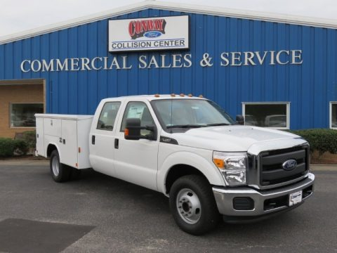 Oxford White 2016 Ford F350 Super Duty XL Crew Cab Utility 4x4 DRW