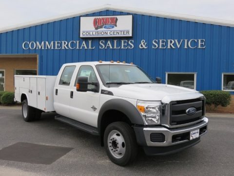 Oxford White 2016 Ford F550 Super Duty XL Crew Cab Chassis Utility
