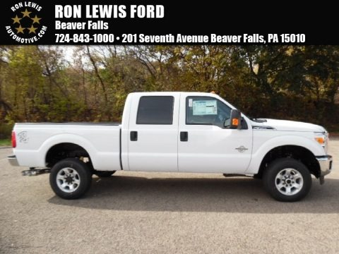 Oxford White 2016 Ford F350 Super Duty XLT Crew Cab 4x4