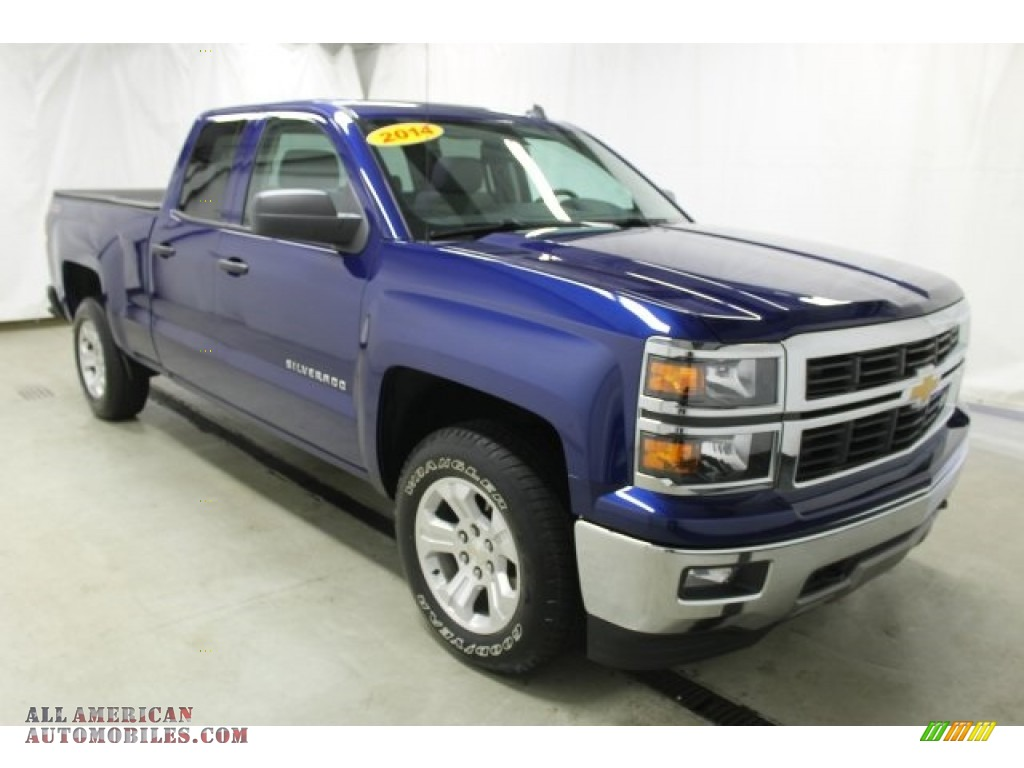 2014 chevrolet silverado 1500 lt double cab 4x4 in blue topaz metallic 336304 all american. Black Bedroom Furniture Sets. Home Design Ideas