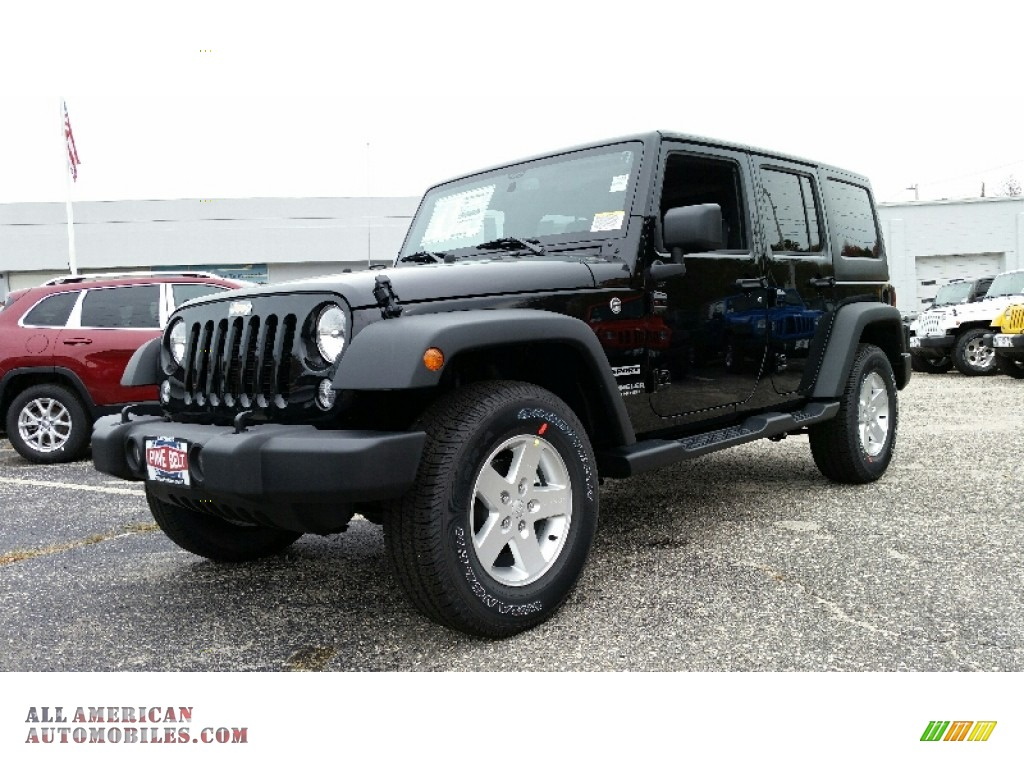 2016 jeep wrangler unlimited sport 4x4 in black 118871 all american automobiles buy. Black Bedroom Furniture Sets. Home Design Ideas