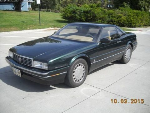 Polo Green Metallic 1993 Cadillac Allante Convertible