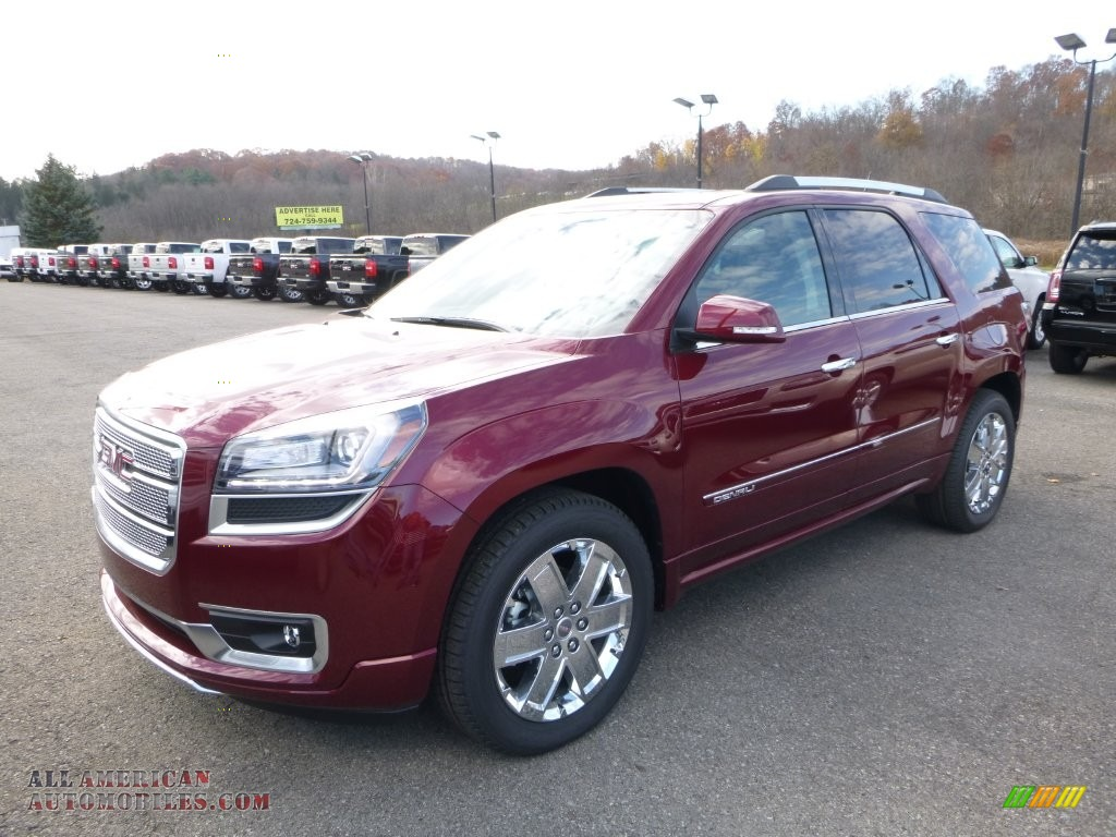 2016 gmc acadia denali awd in crimson red tintcoat 192836 all american automobiles buy. Black Bedroom Furniture Sets. Home Design Ideas