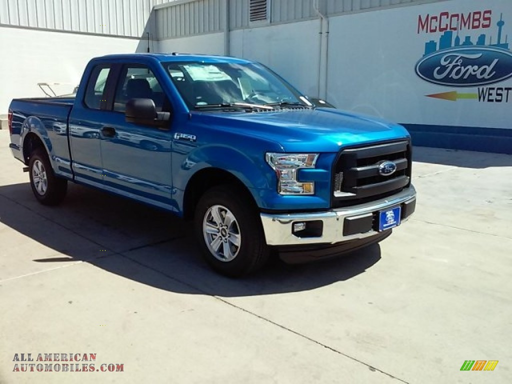 2015 ford f150 xl supercab in blue flame metallic e70850 all american automobiles buy. Black Bedroom Furniture Sets. Home Design Ideas