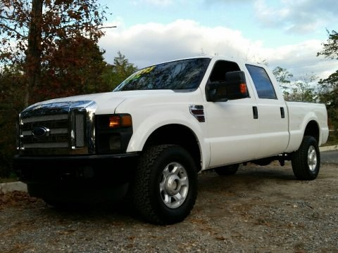 Oxford White 2009 Ford F350 Super Duty XL Crew Cab 4x4