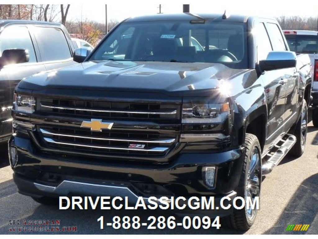 2016 chevrolet silverado 1500 ltz z71 crew cab 4x4 in black 102223 all american automobiles. Black Bedroom Furniture Sets. Home Design Ideas