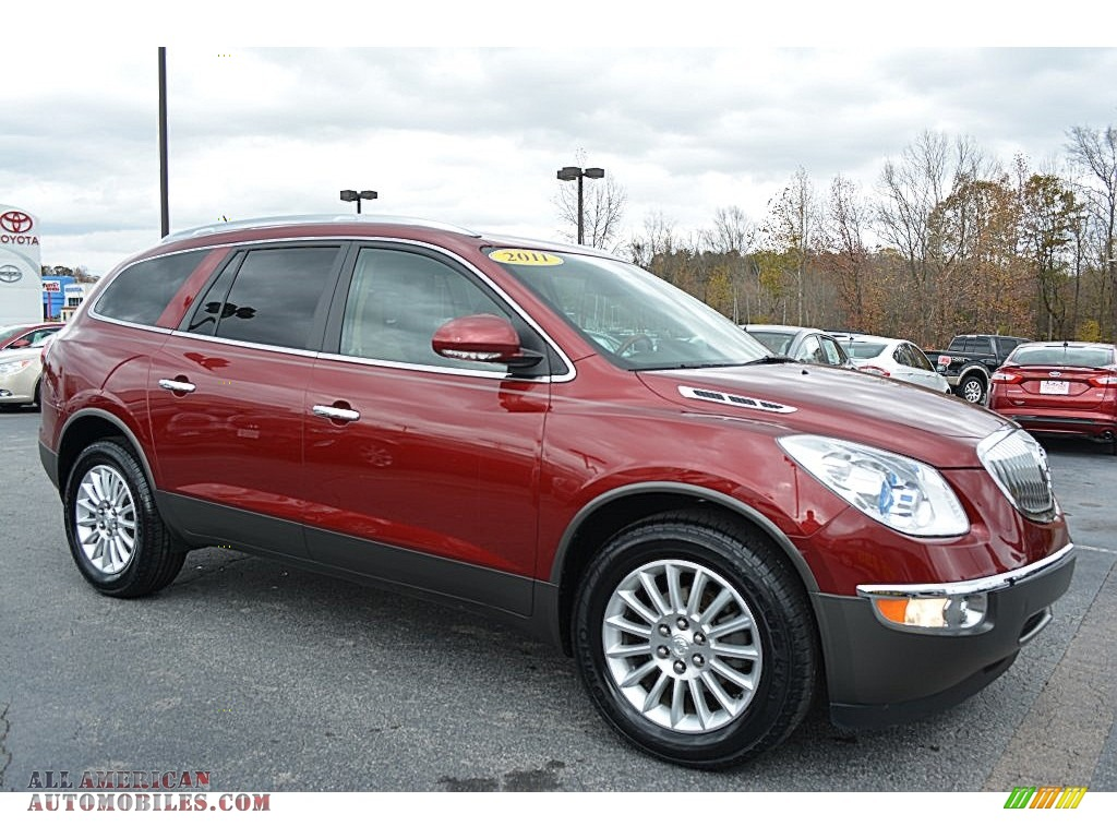 2011 buick enclave cxl awd in red jewel tintcoat 289524 all american automobiles buy. Black Bedroom Furniture Sets. Home Design Ideas