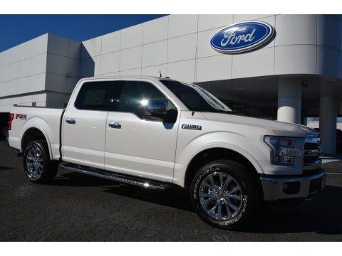 White Platinum Tricoat 2015 Ford F150 Lariat SuperCrew 4x4