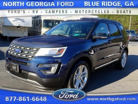Blue Jeans Metallic 2016 Ford Explorer XLT 4WD