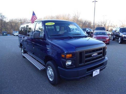 Dark Blue Pearl 2012 Ford E Series Van E350 XLT Passenger