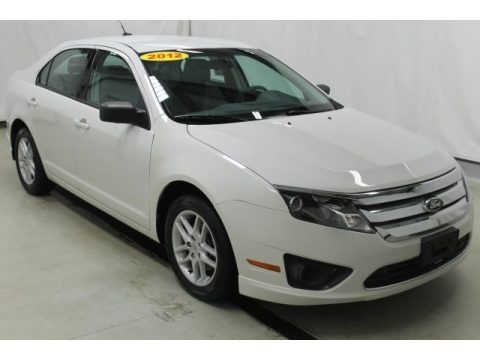 White Suede 2012 Ford Fusion S