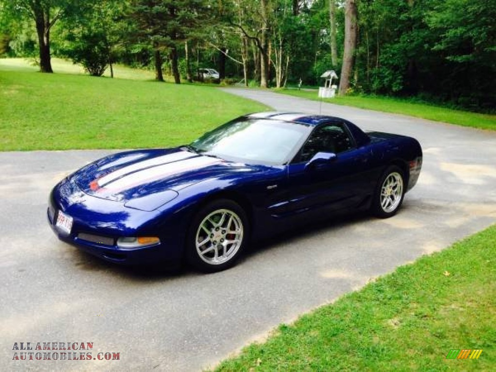 2004 Corvette Z06 - LeMans Blue Metallic / Black photo #1