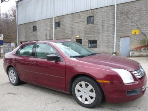 Redfire Metallic 2007 Ford Fusion S