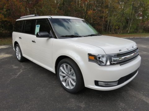White Platinum Tri-Coat Metallic 2015 Ford Flex SEL