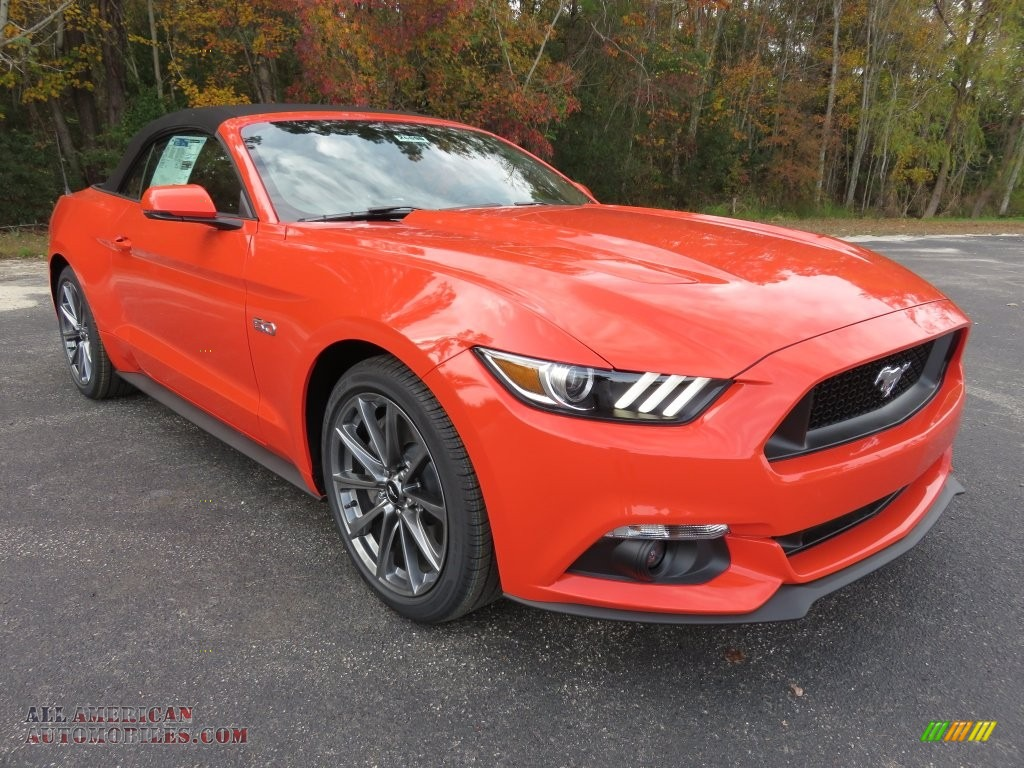 2016 ford mustang gt premium convertible in competition orange 250835 all american. Black Bedroom Furniture Sets. Home Design Ideas
