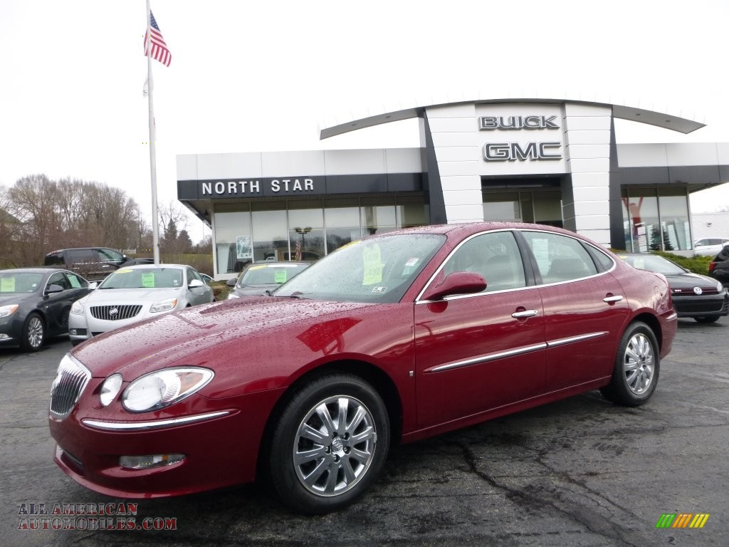 2008 buick lacrosse cxl in red jewel tintcoat 165035 all american automobiles buy american. Black Bedroom Furniture Sets. Home Design Ideas