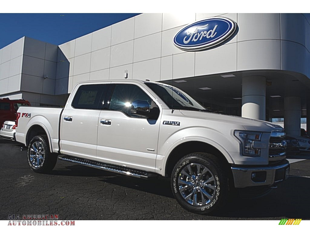 2016 ford f150 lariat supercrew 4x4 in white platinum a35206 all american automobiles buy. Black Bedroom Furniture Sets. Home Design Ideas