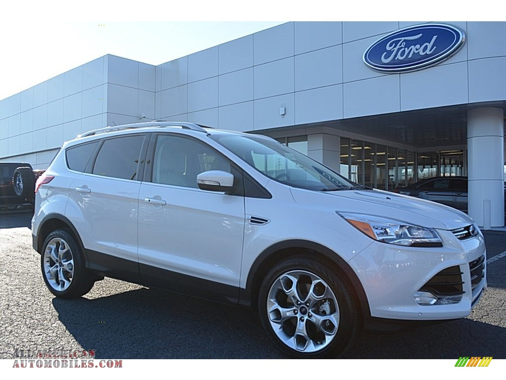 2016 ford escape titanium in white platinum metallic b11115 all american automobiles buy. Black Bedroom Furniture Sets. Home Design Ideas