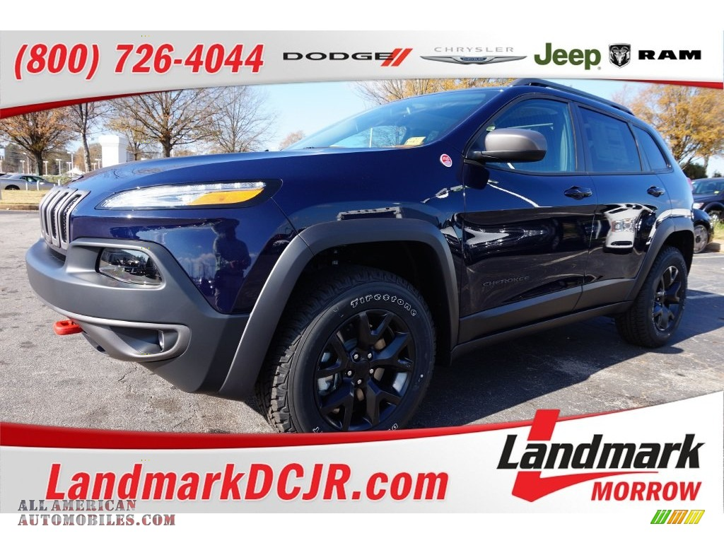 2016 Jeep Cherokee Trailhawk 4x4 in True Blue Pearl photo ...