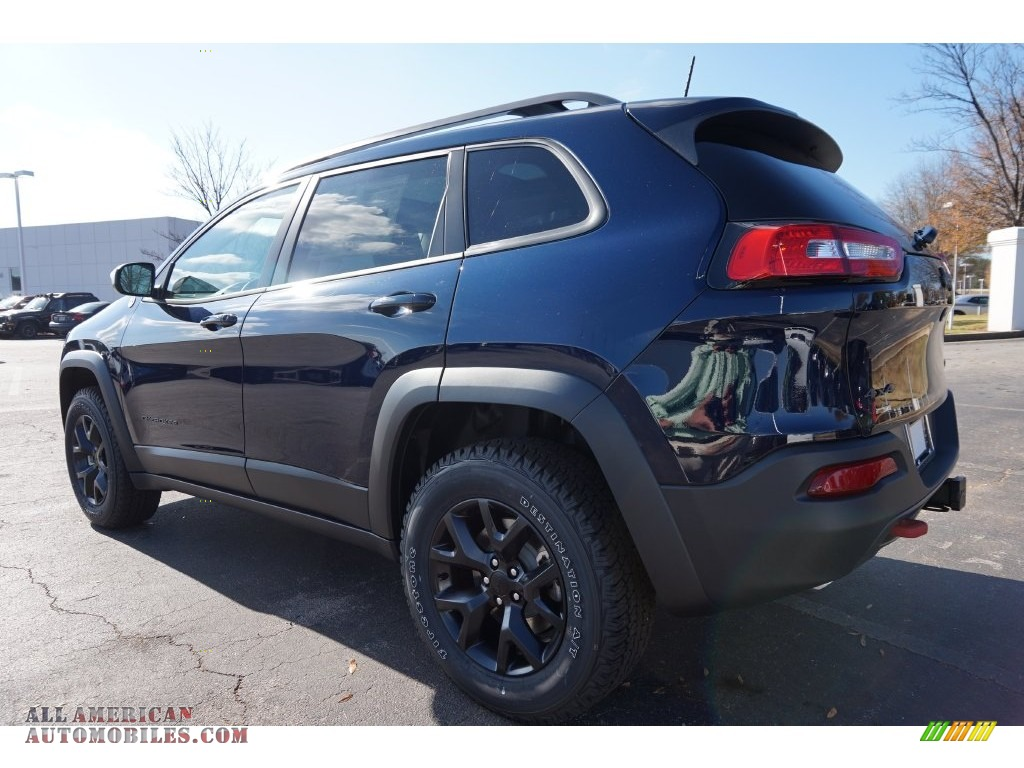 2016 jeep cherokee trailhawk 4x4 in true blue pearl photo 2 206506 all american automobiles. Black Bedroom Furniture Sets. Home Design Ideas