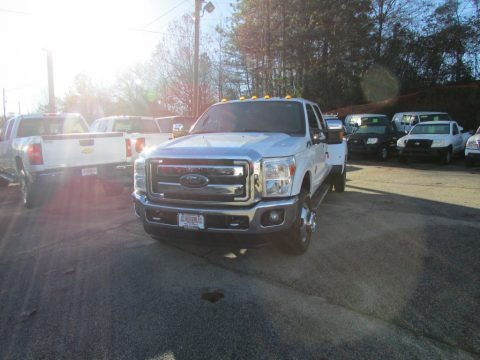 Oxford White 2012 Ford F350 Super Duty Lariat Crew Cab 4x4 Dually