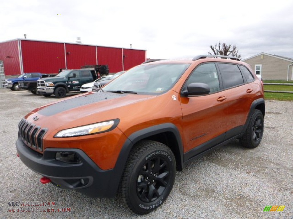 2016 jeep cherokee trailhawk 4x4 in mango tango pearl 115930 all american automobiles buy. Black Bedroom Furniture Sets. Home Design Ideas