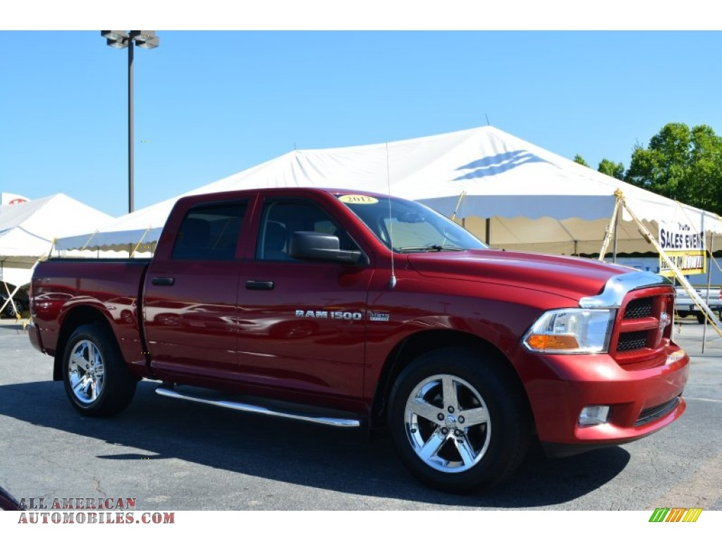 2012 dodge ram 1500 express crew cab in deep molten red pearl 286125 all american. Black Bedroom Furniture Sets. Home Design Ideas